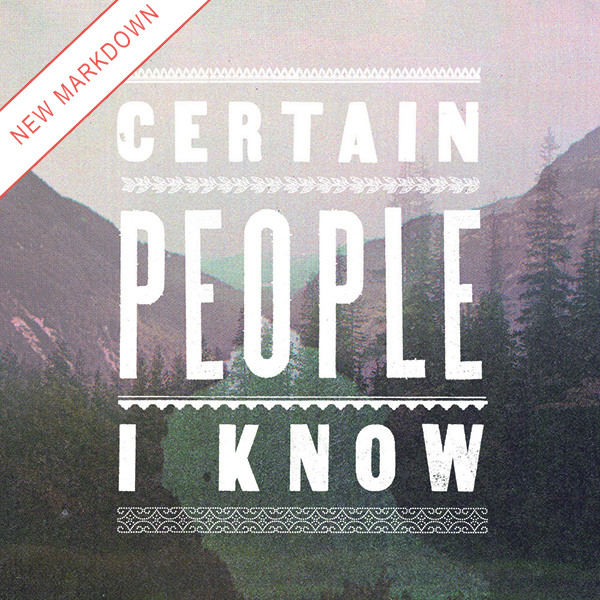 Certain People I Know - S/T LP *Markdown*