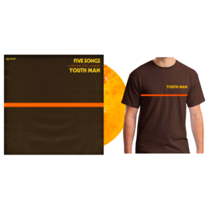 Youth Man – Five Songs Marbled Orange/Yellow 12� + Brown Shirt - PREORDER