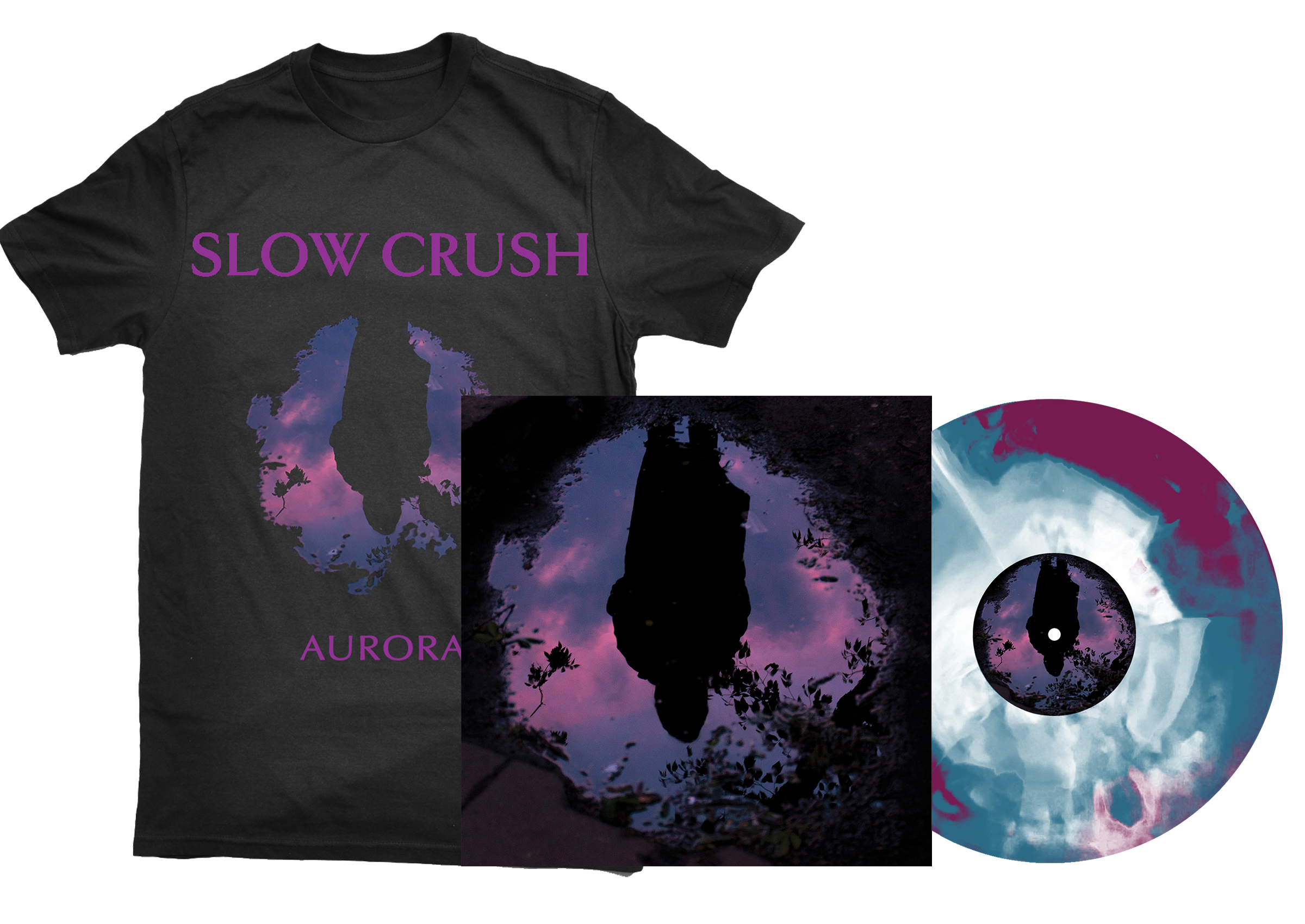 Slow Crush - Aurora LP + shirt PREORDER