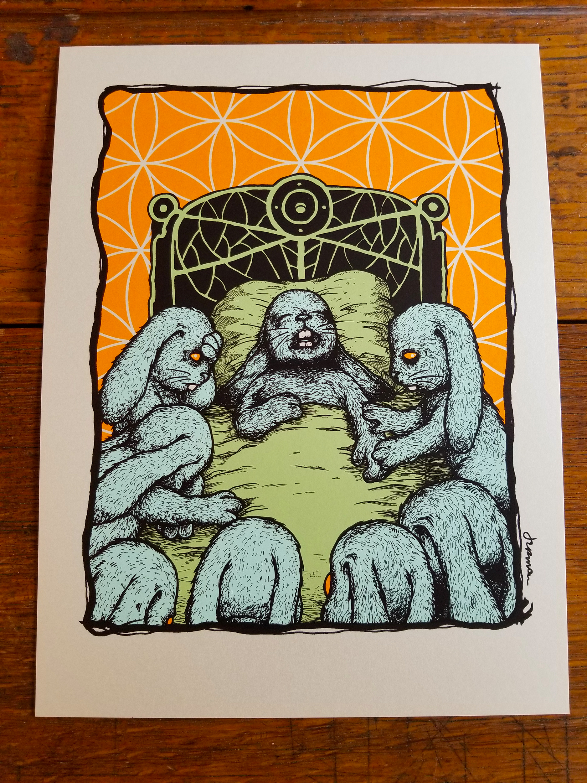 NEW - 'The Passing' MINI PRINT (Opal, Copper, Lava Foil)