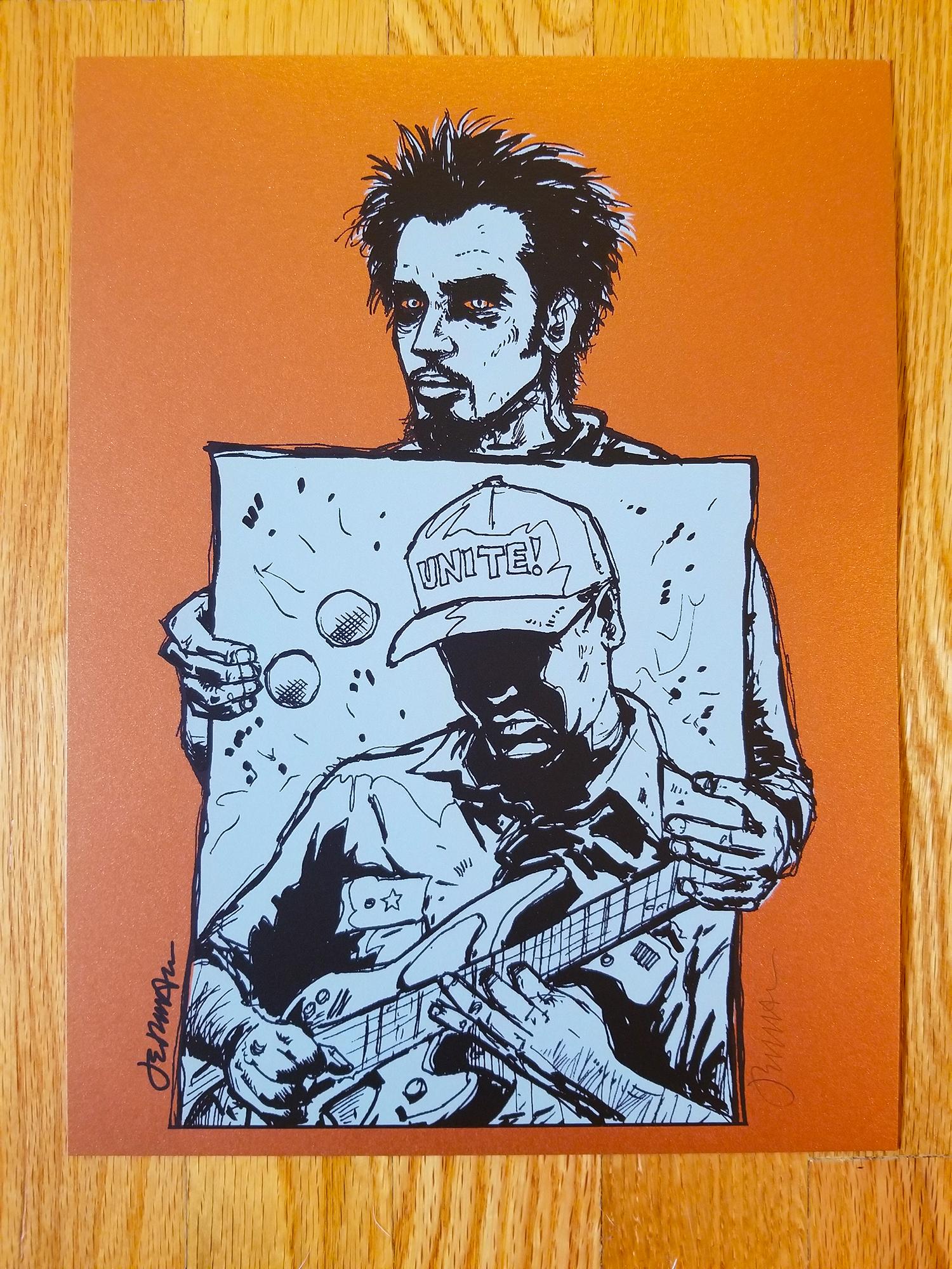 NEW - 'Slaves' (Chris Cornell / Tom Morello / Audioslave) Mini Art Print (STARDREAM GOLD)