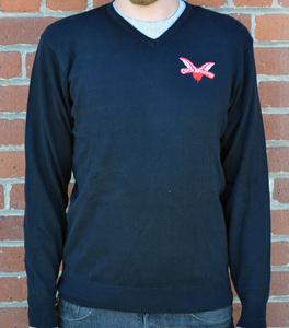 COCK SPARRER: V-Neck Sweater