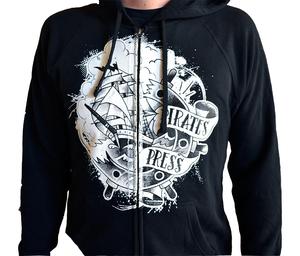 Pirates Press 2016 Logo Zip-Up Sweatshirt (Re-print) Black
