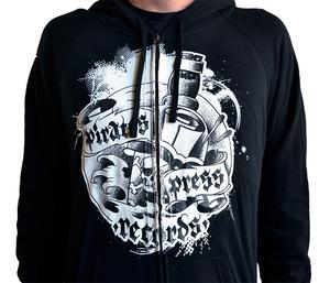 Pirates Press Records 2016 Bottle Zip-Up Sweatshirt (Re-print) Black