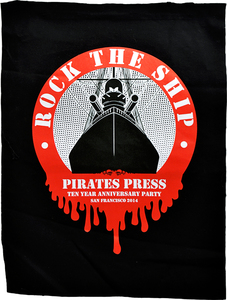 ROCK THE SHIP Silkscreened Canvas Backpatch