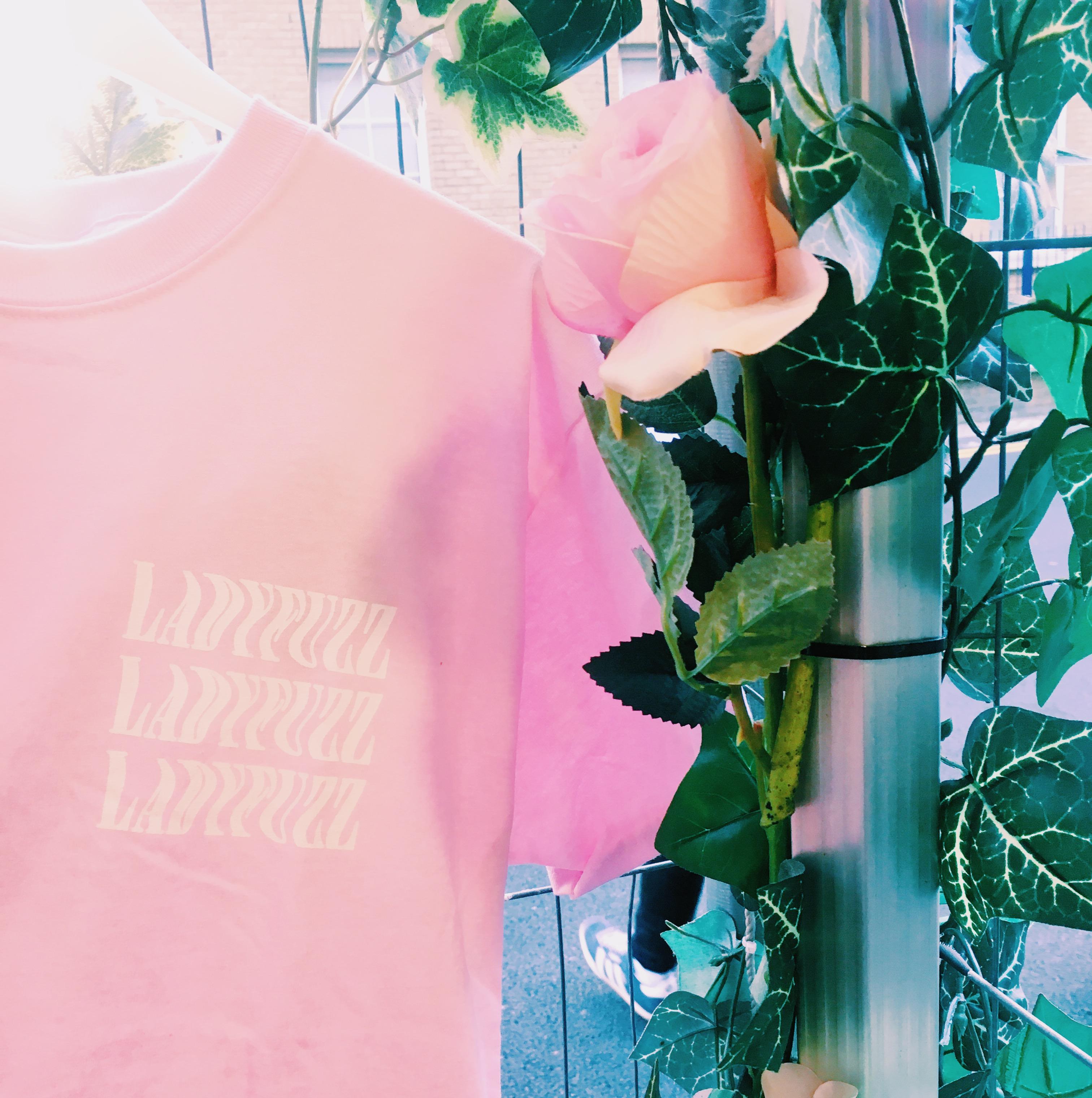 Ladyfuzz Pink Logo T-Shirt