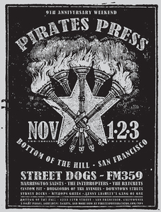Pirates Press 9 Year Anniversary Party Posters