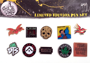 Pirates Press Records Limited Edition Pin Set Bundle