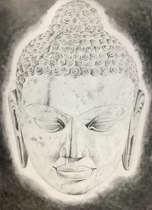 Long Lost Buddha Head print