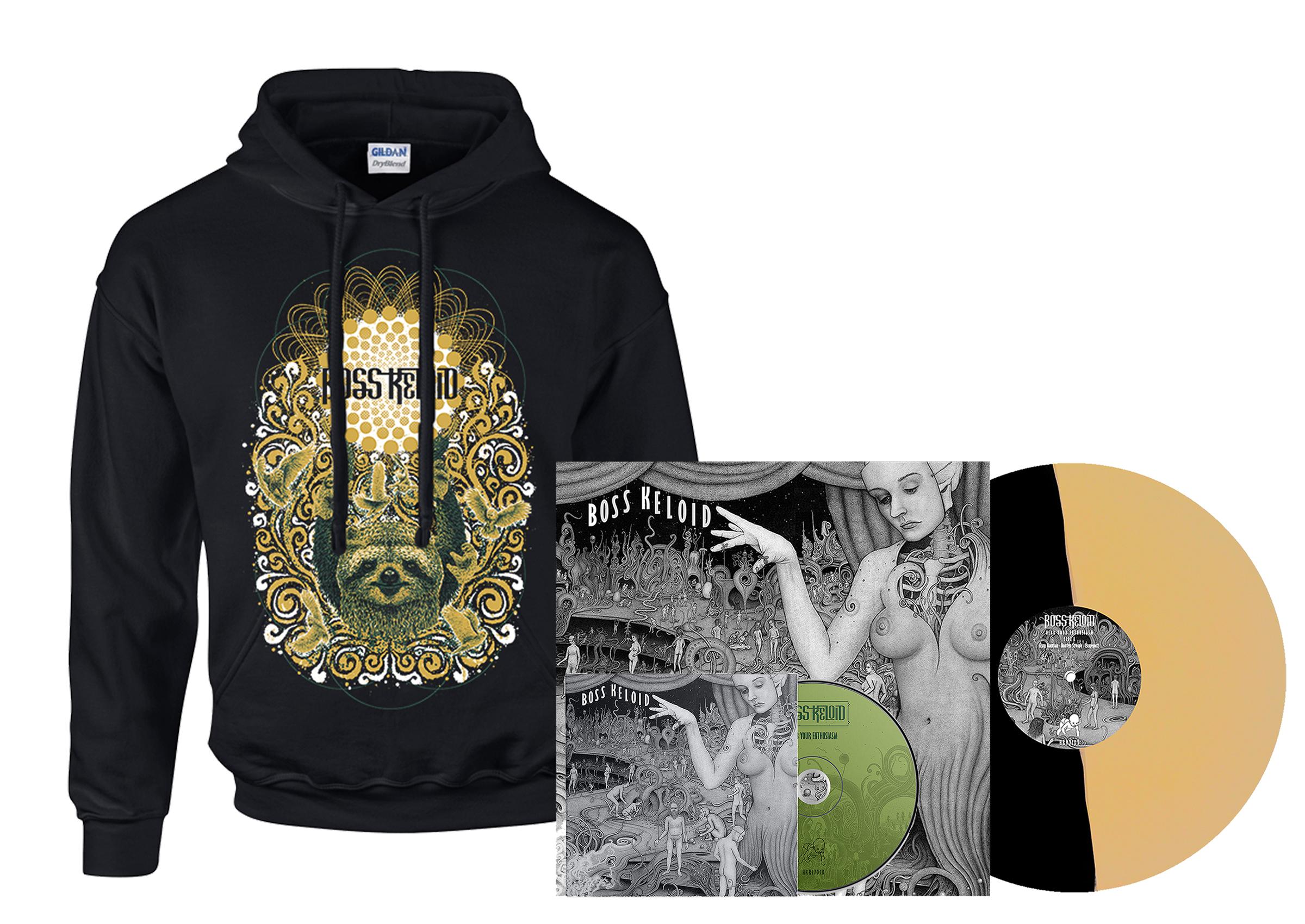 Boss Keloid - Herb Your Enthusiasm hoodie + 2xLP + CD PREORDER