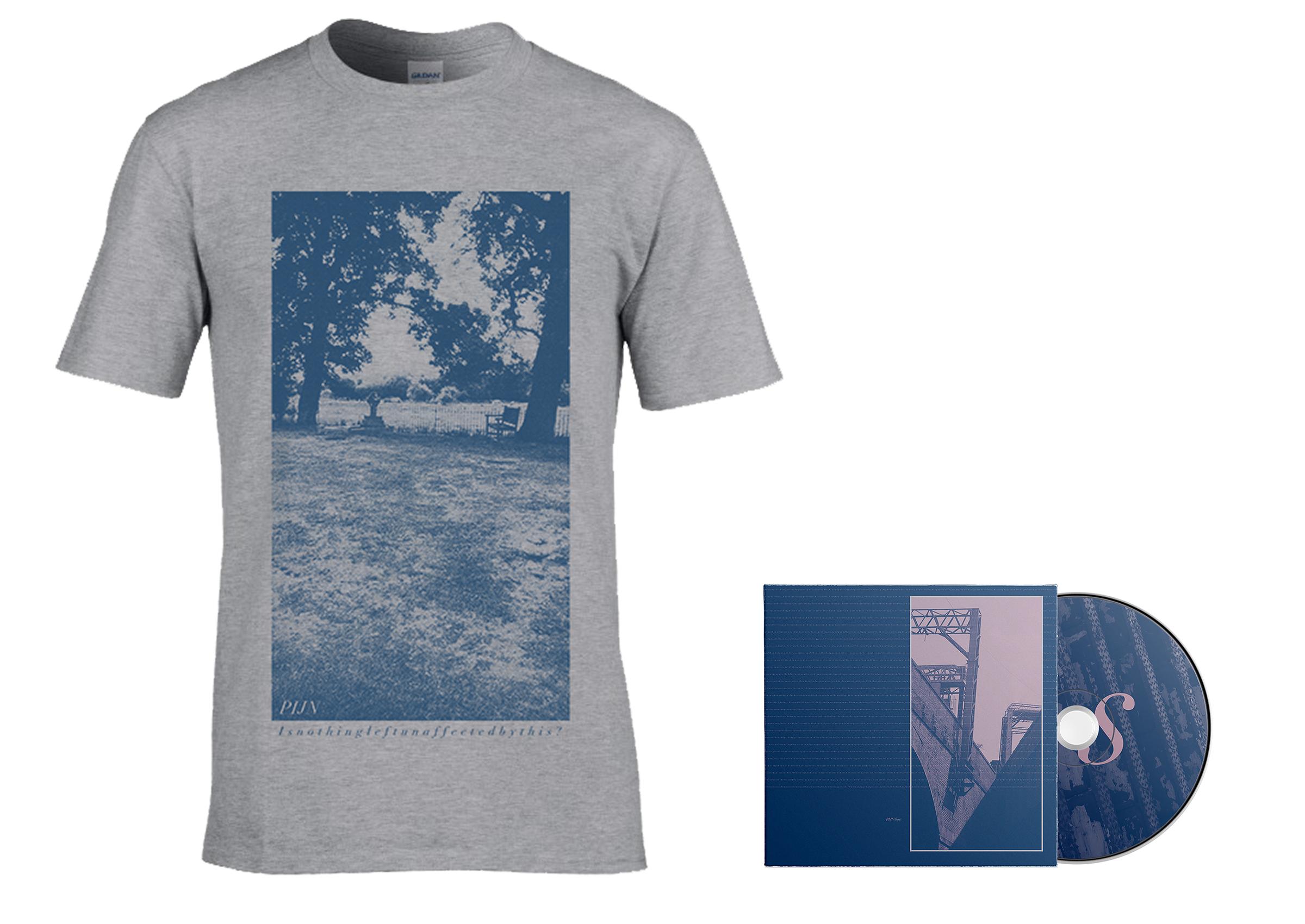 Pijn - Loss grey shirt + CD PREORDER