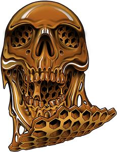 Honey Skull Sticker