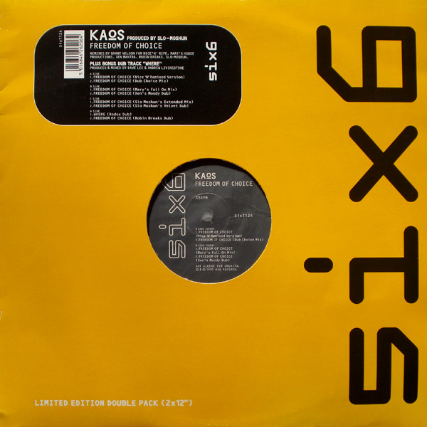 Kaos – Freedom Of Choice 2 x 12