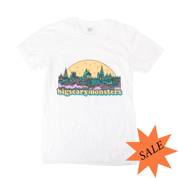 BSM City T-Shirt - Heather Grey/White