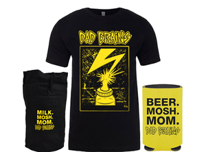 Dad Brains T-Shirt + Coozie Bundle