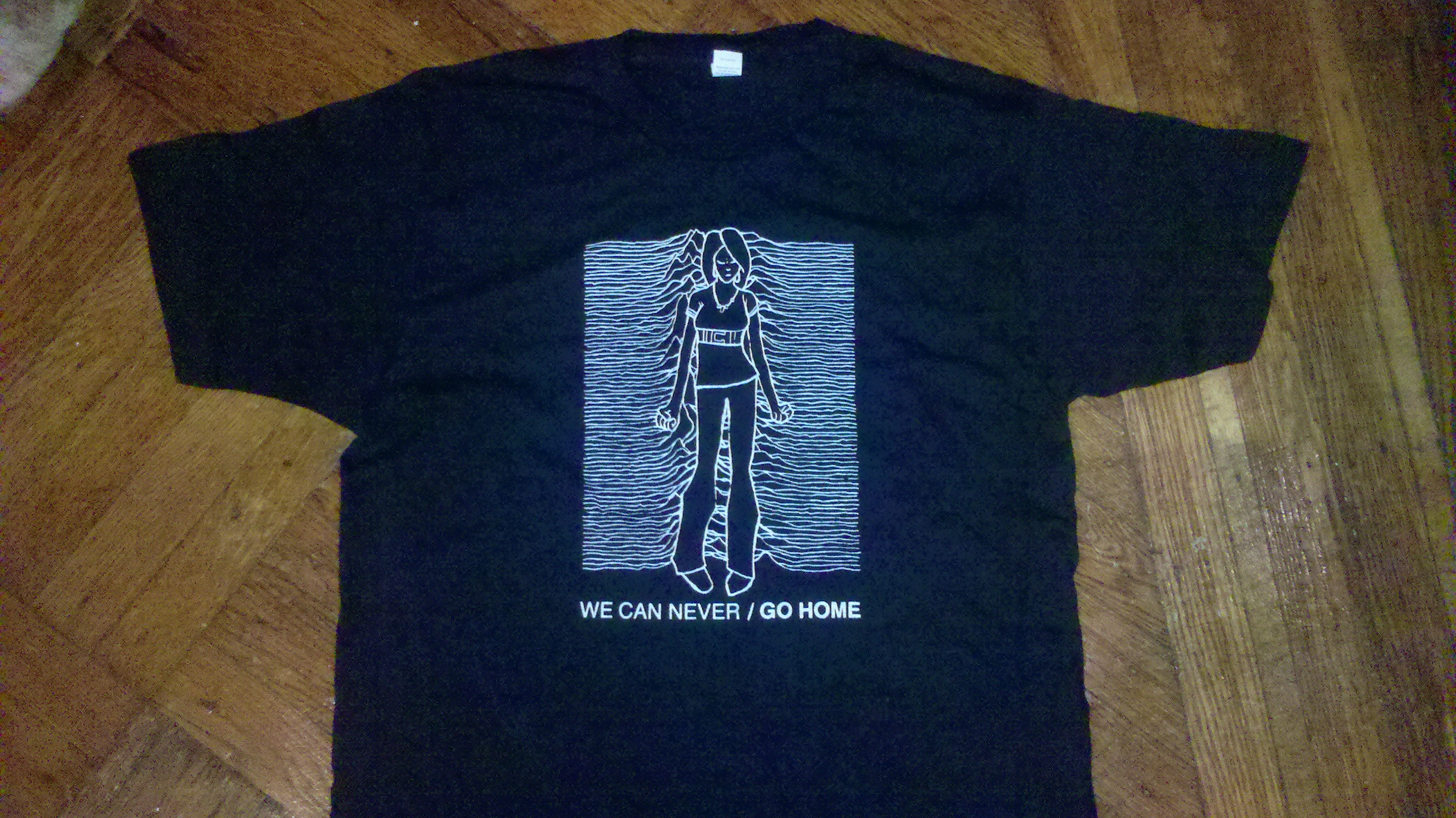 ashcan press we can never go home joy division shirt. Black Bedroom Furniture Sets. Home Design Ideas